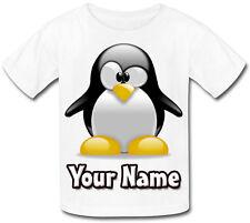 Penguin Carino personalizzata KIDS T-SHIRT - regalo per qualsiasi bambino & denominato troppo