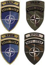 Klettabzeichen, Patches, Nato, KFOR, ISAF
