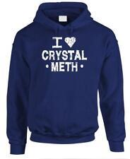 I HEART CRYSTAL METH - Fleece Pullover Hoodie
