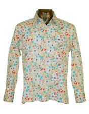 $99.00 New Touchbase Men's Dress Shirts Long Sleeves 97% Cotton White