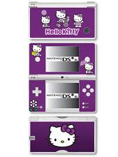 Hello Kitty Vinyl Skin Sticker for Nintendo DSi XL - Purple