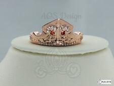 Aurora Sleeping Beauty Ring Rose Gold Tiara Princess Disney Crown Maleficent