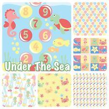 Bebé bajo el mar seres marinos Pastel Patchwork Algodón Tela Fat Quarters