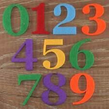 Georgia Font Number Set 3mm Felt Numbers 0-9 10 Characters Sizes 5-12cm