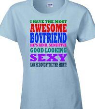 sorprendente Boyfriend / Esposo t- Camisa Regalo Para Ella Valentines Navidad