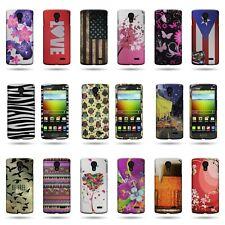 For LG Lucid 3 - Slim Snap On Rigid Plastic Design Phone Cover Case Protector
