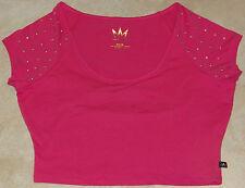 Womens Nicki Minaj Pink Knit Short Top w/Keyhole Design-NWT