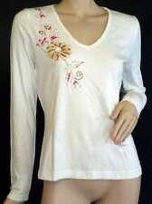 One Langarmshirt Damen T-Shirt weiß NEU 38 + 40