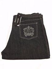 ELENA MIRÒ jeans donna leggero nero con applicazioni sulle tasche argento