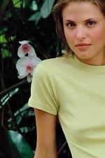 Hanes Plain Cotton APPLE GREEN Ladies Girlie Girls Spicy Slim Fit Tee T-Shirt