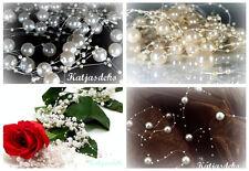 filo di Perle Nastro decorativo PERLINE MATRIMONIO tischdeko bianco crema