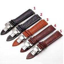 Correa Deployante Mariposa Reloj Cuero Pu Leather 18mm Negro Marron pulsera inox
