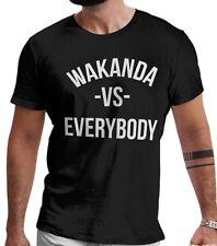 Wakanda Vs Everybody Men`s T-Shirt Black Panther Marvel T Shirt LeRage Shirts
