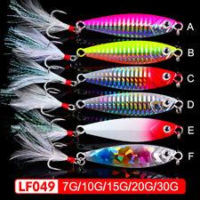 6pcs Jigging Lead Fish 7-30g/4.5-7.5CM Metal Fishing Lure Jig Hard Baits tackle