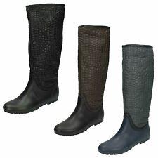 Ladies Spot On Crocodile Style 'Wellington Boots'