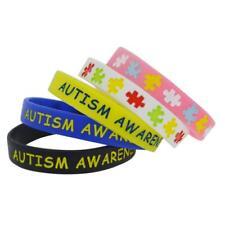 X2 AUTISM AWARENESS Medical Wristbands Alert Silicone Wristband Bracelet UK