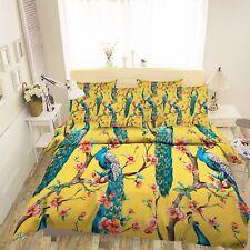 3D Blue Peacock Tree 55  Bed Pillowcases Quilt Duvet Cover Set Single Queen CA
