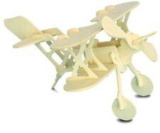 Bi-Plane: Woodcraft Construction Wooden 3D Model Kit Cx 509