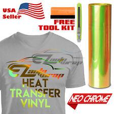 "Neo Chrome Yellow Heat Transfer Vinyl HTV T-Shirt 20"" Wide Iron On / Heat Press"