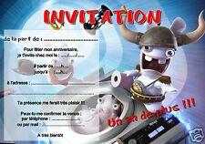 5 ou 12 cartes invitation anniversaire lapin réf 264