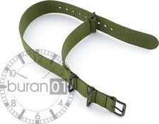 Bracciale Cinturini orologi Militare Tessile Nylon PVD nero 18mm,20mm,22mm,24mm