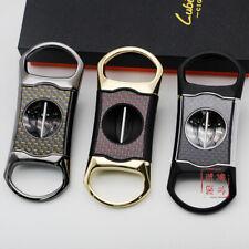 LUBINSKI Cigar cutter Carbon fiber metal V-shaped portable Cigar Scissors