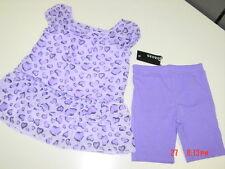 NWT Toddler Girls 2 pc Outit George Lavender Purple Chiffon Blouse Shorts Dressy