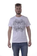 T-shirt Maglietta Versace Jeans Sweatshirt % PLUTO Uomo Bianco B3GPA754-3
