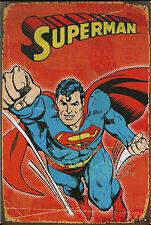 Plaque murale émaillée en métal style Retro Vintage / déco Bar Mur Super Heros