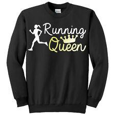 Felpa donna Running Queen con stampa oro metallizzata, jogging, footing, corsa