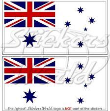 AUSTRALIE MARINE Drapeau AUSTRALIEN 130mm Vinyle Stickers Autocollants x2
