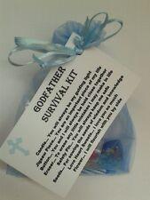 Godfather Survival Kit Novelty KEEPSAKE THANK YOU Gift Christening Godparents