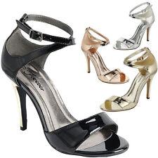 New Womens Open Toe Criss Cross Ankle Strap Stiletto High Heel Dress Pump Sandal