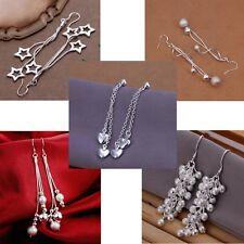 Silver Tassel Tree Of Life Star Heart Ball Drop Dangle Earring Jewellery Gift UK