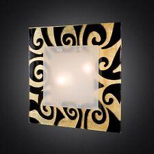 Plafoniera di Murano DAMASCO Oro Nero 40X40