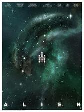 Nostromo Spaceship Alien Galaxy Interstellar Cloud Artwork Lithograph Sci-Fi Art