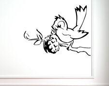 Banksy Oiseau avec grenade Graffiti Wall Sticker Autocollant Amovible Décoration 45 cm x 60 cm