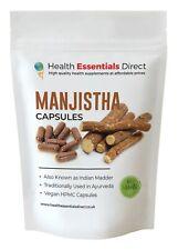 Manjistha Capsules 400mg (Rubia Cordifolia, Detox, Ayurvedic Blood Purifier)