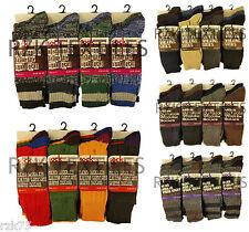6 paires Homme Chaussettes ordinaires, épais tricot chaudes Botte de travail,