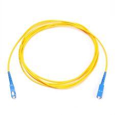 3m SC a Fibra Óptica Modo Único 9/125 óptico Simplex Cable De Conexión Amarillo