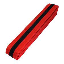 Taekwondo Karate Martial Arts Double Wrap Stripe Belts Red/Black Free Shipping