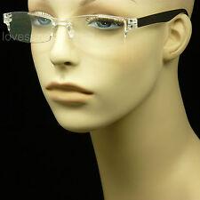 READING GLASSES RIMLESS PLASTIC FRAME CLEAR LENS MEN WOMEN NEW POWER STRENGTH