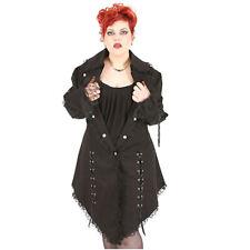 Rubiness Gothic Goth Victorian Denim Mantel Victorian Coat Plus-Size Übergrößen