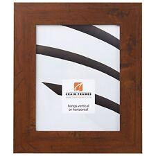 "Craig Frames Flat 2"" Wide Distressed Rustic Brown Picture Frames & Poster Frames"