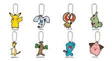 Pokemon Mascot Swing V6 PVC Rubber Keychain Lugia Ho-Oh Larvitar Cleffa ND23311
