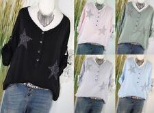 f399033ddd28b5 ITALY MODA Bluse NIETEN STERN Tunika Sterne Shirt Color Hemd M L 38 40 NEU  H/