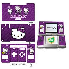 Hello Kitty Vinyl Skin Sticker for Nintendo DS Original - Purple