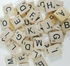 Scrabble Tiles Original Authentic Wood Engraved Replacement Tiles Craft Vintage