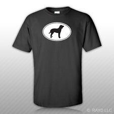American Water Spaniel Euro Oval T-Shirt Tee Shirt Free Sticker dog canine pet