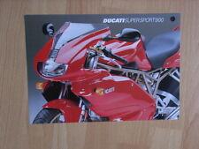 DUCATI SUPER SPORT 900 prospetto/brochure/DEPLIANT, D/GB/F/i/e/J